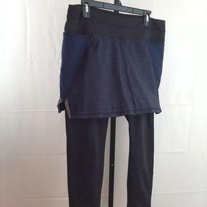 Womens Athleta legging pant short combo Large